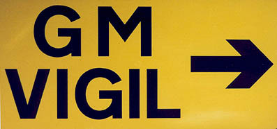 Munlochy GM Vigil Road Sign, 2001-2002